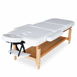 Table de massage en bois fixe réglable multiposition avec accoudoirs Esthéticienne Tatoueur Physiothérapeute MASSAGE-PRO
