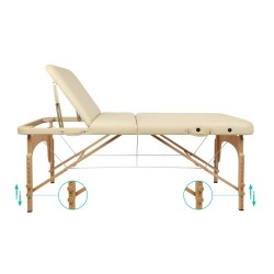 Table de Massage Lit Pliant 3-Section Professionnel Portable Ergonomique
