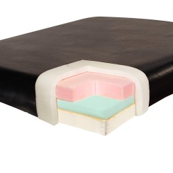 Table de massage/estheticienne ovale Reiki + accessoires set 3 Beige