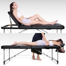 Tables de Massage Lit Cosmétique Pliante Aluminium Professionnel Portable Ergonomique