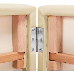Table de massage Pliante 3 Zones Epaisseur 13 cm + Housse+Tabouret et rouleaux