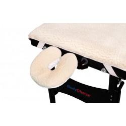 Protection pour table et coussin pour têtière en fourrure polaire