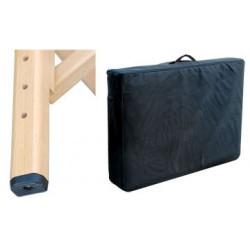 Table de massage Transportable en bois de Luxe avec Accessoires en plus